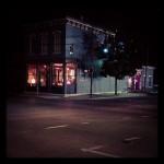 ghostlight wayne ave lit up at night